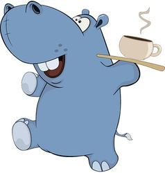 Little hippopotamus Cartoon vector image
