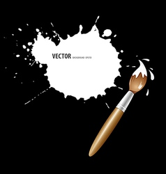 Paint brush white ink background vector