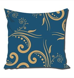 Pillow with vintage pattern vector image vector image