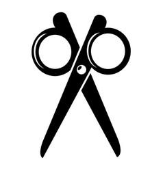scissors icon simple black style vector image