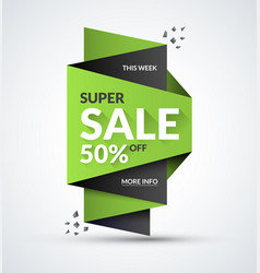 super sale banner special offer concept vector image