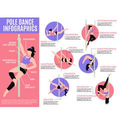 pole dance infographics vector image
