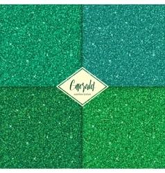 Set of emerald texture vector image