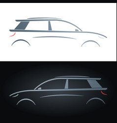 silhouette of a hatchback concept car vector image vector image
