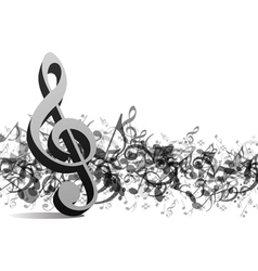 treble notes background vector image