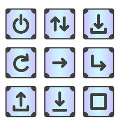 A set of 9 icons for the device menu in the frame vector
