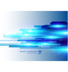 Abstract blue virtual technology concept vector