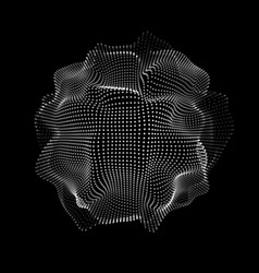 abstract space particles shape vector image