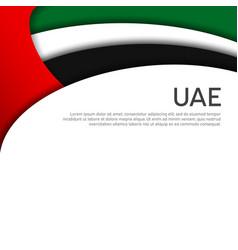 Abstract waving flag united arab emirates vector