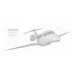 airplane abstract 3d polygonal wireframe airplane vector image