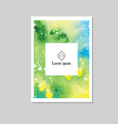 art of watercolor stains of paint on watercolor vector image