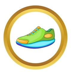 Athletic shoe icon vector