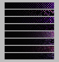 Banner background set - rectangular dot pattern vector