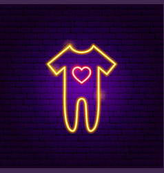 baromper suit neon sign vector image