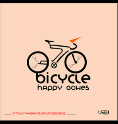 Bicycle-logo vector