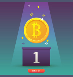 Bitcoins cryptocurrency icon vector