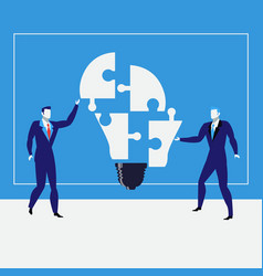 Businessmen creating ideas vector