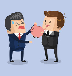 Businessmens without savings vector