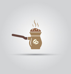 cezve for coffee isolated colored icon vector image