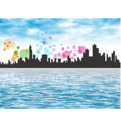 City shoreline 1 vector
