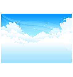 Clouds In Blue Sky vector