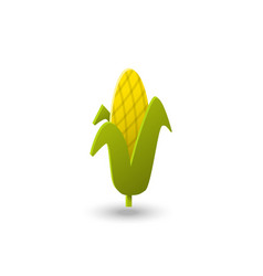 colorful corn icon in flat style vector image
