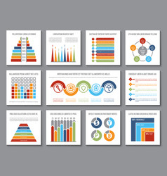 data graphics analytics bar and budget graph vector image