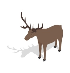 Deer icon in isometric 3d style vector