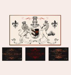 elegant vintage designs set for luxury logos vector image