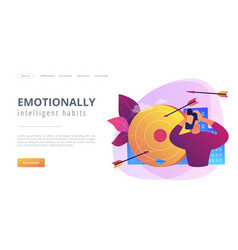 Frustration concept landing page vector