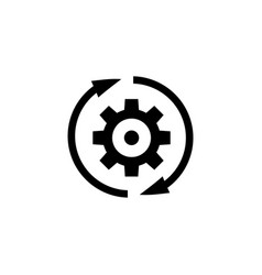 gear rotation direction flat icon vector image