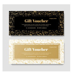 Gift premium voucher coupon template vector