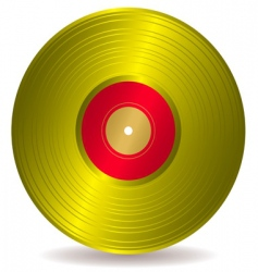 golden disc record album vector image