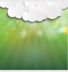 Green blur nature background vector
