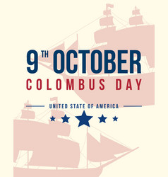 Happy columbus day banner design vector