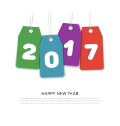 Happy new year 2017 text design template vector