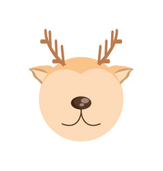 Head cute deer animal image vector