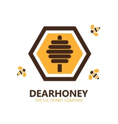 honey logo or symbol icon vector image