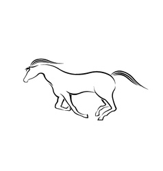 Horse running in style vector