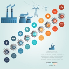 industrial infographic 9 vector image