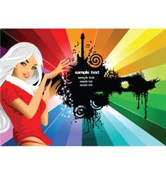 Invitation from santa girl vector