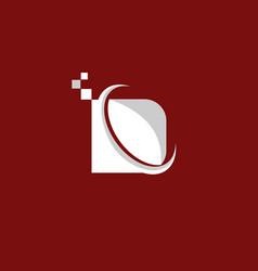 letter d pixel business logo design vector image