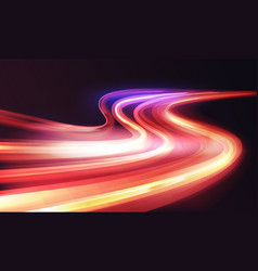 light speed motion trail blur streak effect long vector image