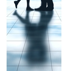 Lovers shadow vector image