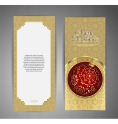 Luxury card with Christmas ball vector image