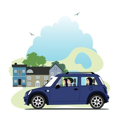 mini car vector image