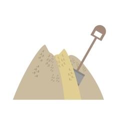 mining mineral sand pile shovel vector image