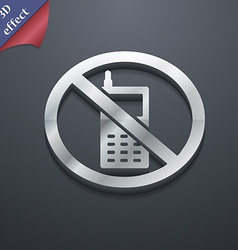 Mobile phone is prohibited icon symbol 3d style vector