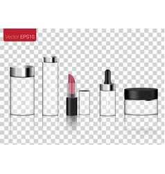 Mock up realistic glass transparent packaging vector