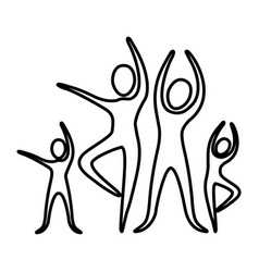 Monochrome contour pictogram of practice of ballet vector